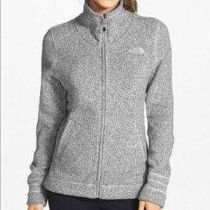 North Face crescent sunset full zip fleece